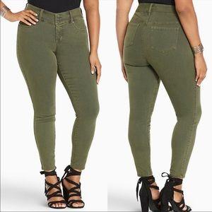 NWT Torrid Olive Green Jegging Skinny Jeans 12